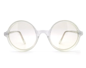 38432f7b513c Genuine 1970s Anglo American Mod 211 Vintage Round Glasses Frame    Made in  England    New Old Stock