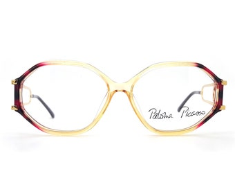 0218bd44ca80b Genuine 1980s Paloma Picasso 3762 80 Vintage Eyeglasses Frame    Made in  Germany    New Old Stock
