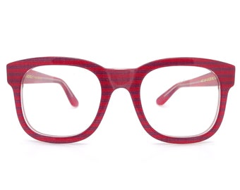 1e16de5ab74c Genuine 1980s Anglo American Mod 304 Red Stripe Vintage Glasses Frame     Made in England    New Old Stock