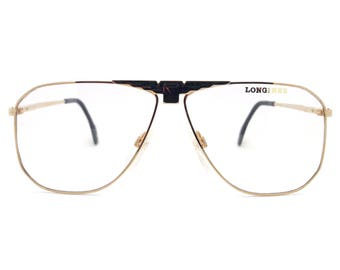 Genuine 1980s Longines 0155 617 Vintage Aviator Glasses // Made in Germany // New Old Stock