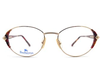 a867aed1d0 Genuine 1980s Burberry B 8791 VP9 Vintage Cat Eye Glasses    Made in Italy     New Old Stock