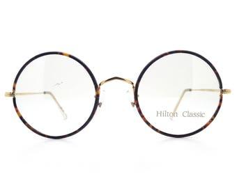 9bf7e317e64 Genuine 1980s Hilton Classic 2 Tortoiseshell Round Vintage Glasses    Made  in England    New Old Stock