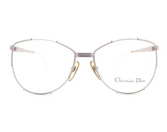 Genuine 1980s Christian Dior 2472 41 Vintage Womens Glasses Frame // Made in Austria // New Old Stock