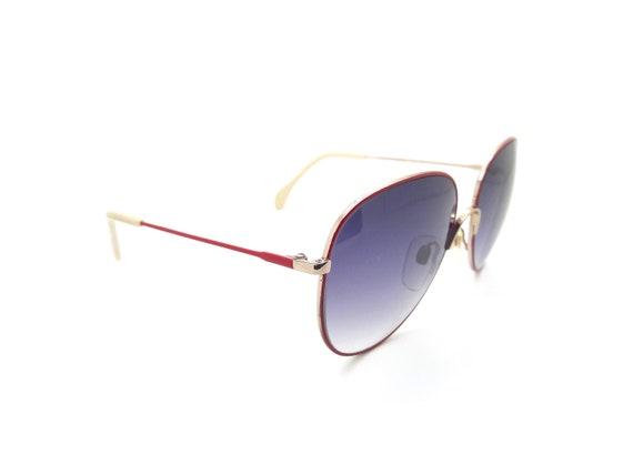 Metzler 0828 Red Vintage Aviator Sunglasses // Vi… - image 7