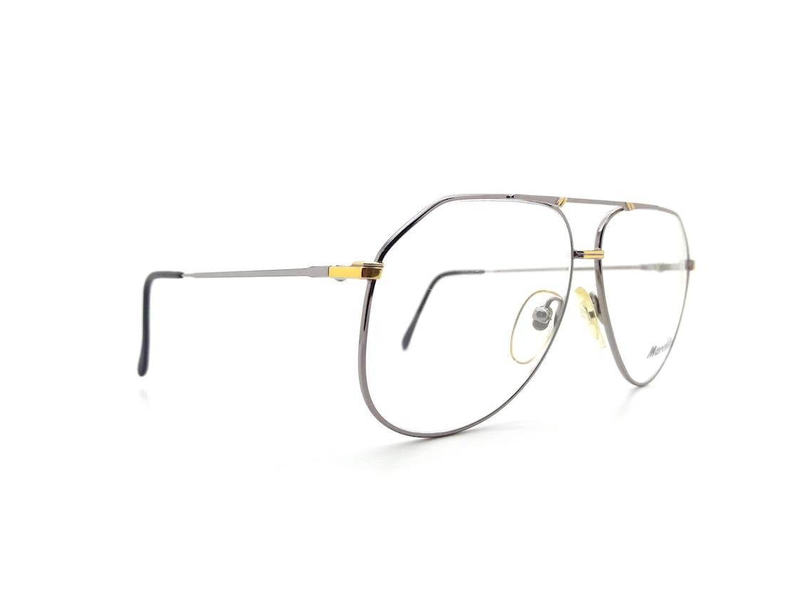 Vintage Marcolin 6015 Silver Avaiator Glasses Frames // 1980s New Old Stock Aviators
