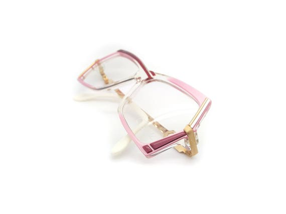 ad26737e3ff2 Genuine 1980s Cazal Mod 183 Col 242 Pink Vintage Glasses