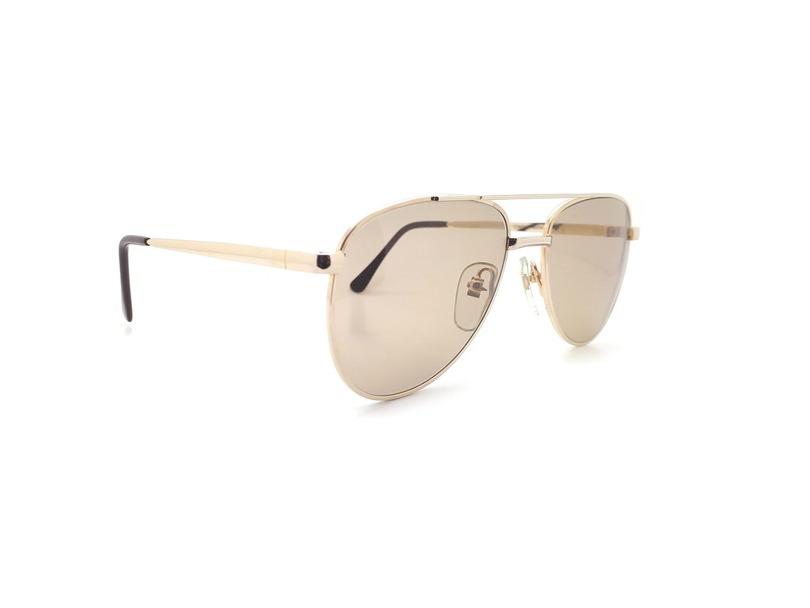 Gold 90s Vintage Aviator Sunglasses, Conti AVIATOR 2  // Made in Italy // New Old Stock