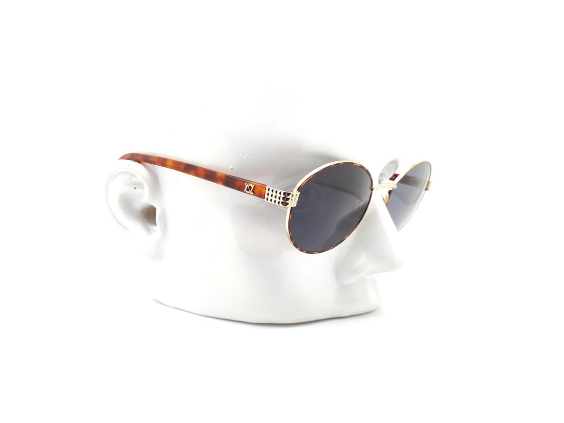 Vintage Yves Saint Laurent 4061 Y138 Round 80s Sunglasses // 1980s YSL New Old Stock Sunglasses