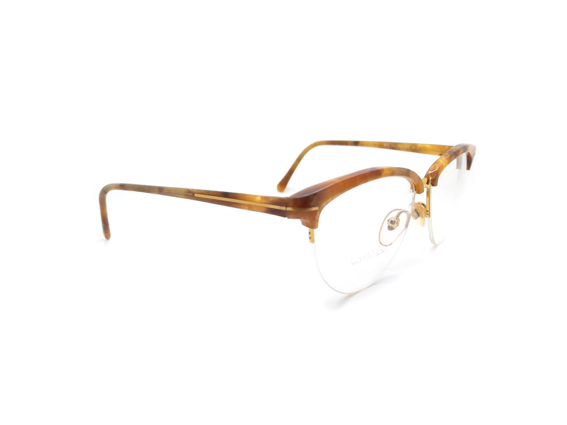 Genuine 1980s Gianni Versace Mod 342 Col 928 Vintage Clubmaster Glasses Frame // Made in Italy  // New Old Stock