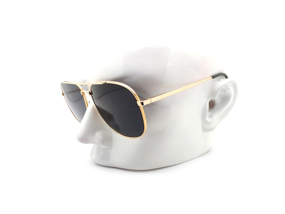 Vintage Haute Couture 8307 1 Gold Aviator 80s Sun… - image 10