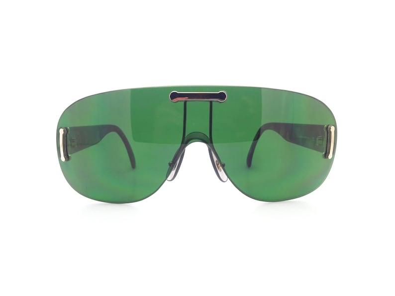 d5a152112ce8 Genuine 1990s Hugo Boss 5155 61 Vintage Shield Sunglasses // | Etsy
