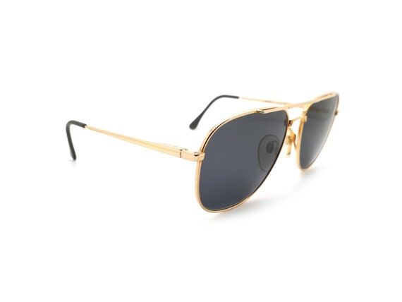 Vintage Haute Couture 8307 1 Gold Aviator 80s Sun… - image 5