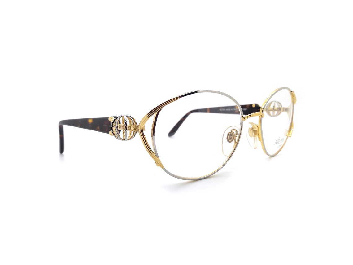 Vintage Women's Eyeglasses 90s Hilton Park Lane 107 Col 04 // Gold Butterfly Eyeglasses // New Old Stock // Lunettes