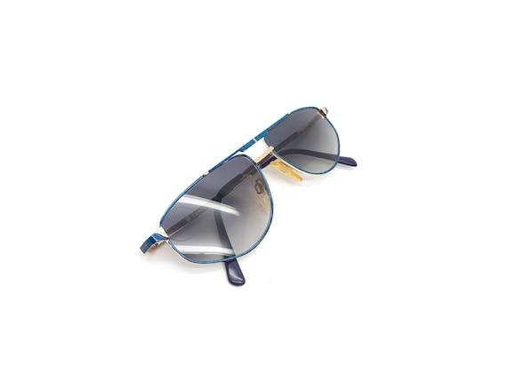 Vintage Century O6 667 80s Blue Aviator Sunglasses