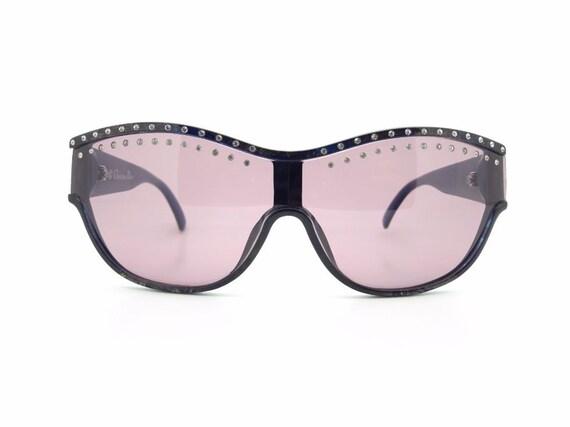 Vintage Christian Dior 2438 1990s Shield Sunglasse