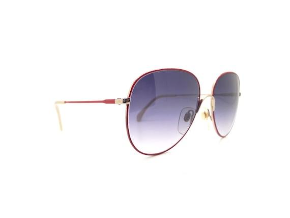 Metzler 0828 Red Vintage Aviator Sunglasses // Vi… - image 8
