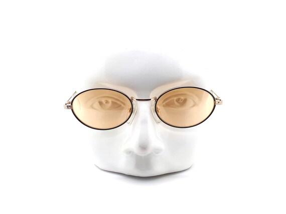 Vintage Oval 90s Sunglasses, Escort 705 PG Black /