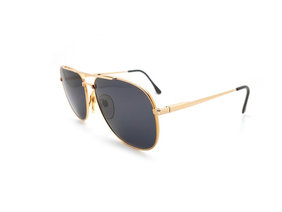 Vintage Haute Couture 8307 1 Gold Aviator 80s Sun… - image 3
