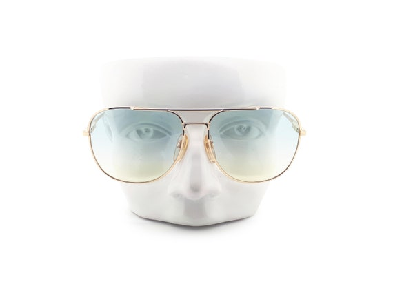 Vintage Haute Couture 8307 1 80s Gold Aviator Sung