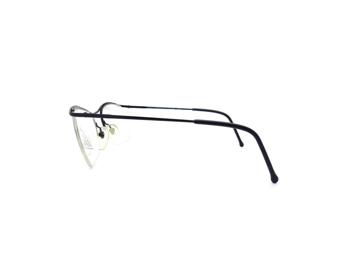 Anglo American Eyewear M63 Black Vintage Glasses Frames // 1990s New Old Stock Eyeglasses
