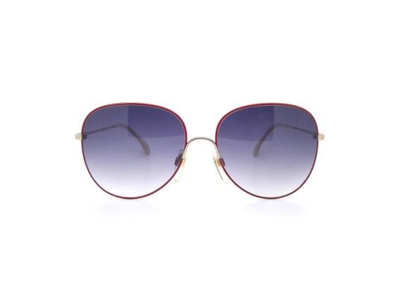Metzler 0828 Red Vintage Aviator Sunglasses // Vi… - image 2