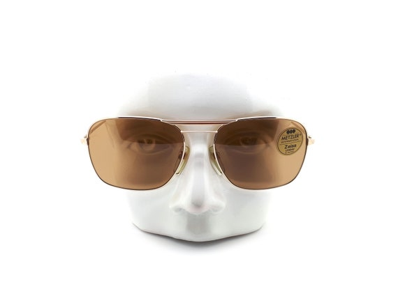 Vintage Metzler 2635 Gold Aviator 80s Sunglasses,