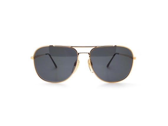 Vintage Haute Couture 8307 1 Gold Aviator 80s Sun… - image 2