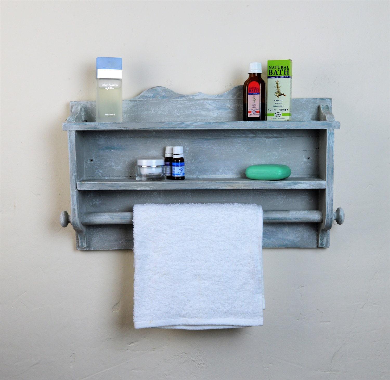 Wooden towel rail bathroom/ kitchen shelves handmade Annie