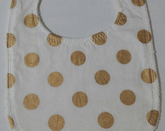 White with Gold Spots