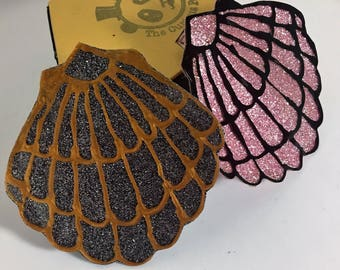 mermaid shell hair clips!