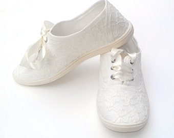 e6443b0a1 Lace Wedding Sneakers