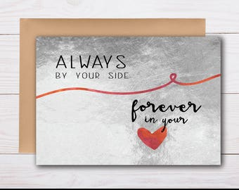 by your side / here for you, sympathy card, grief card, bereavement card, condolence card, thinking of you, loss of wife, loss of husband