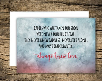 Loss of baby / miscarriage, sympathy card, condolence card, pregnancy loss, infant loss, bereavement card, loss of child, miscarry, grief