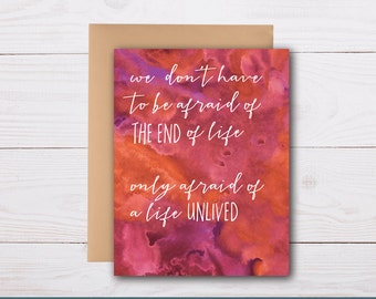 life well lived / sympathy card, condolence card, bereavement card, celebrate life, loss of a loved one, supportive card, grief card