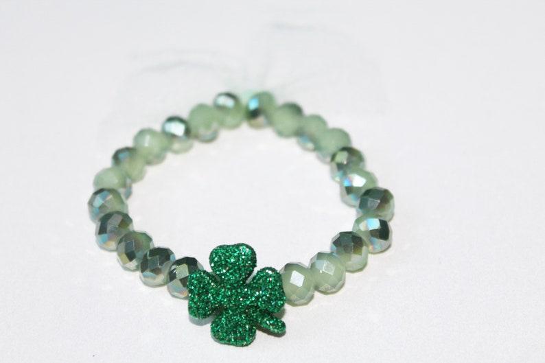 Saint Patrick/'s Bracelet Beaded Bracelet Tulle Bracelet Bracelet for mom Gift for Daughter Bracelet for girls St Patrick/'s Bracelet