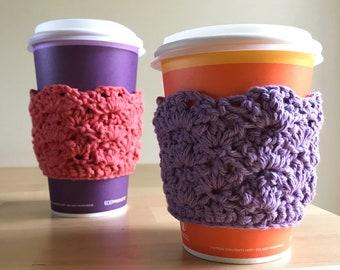 Coffee Sleeve Crochet, Crochet Coffee Cozy, Cup Cozy Crochet, Reusable Cup Sleeve, Coffee Cup Cozy, Cup Cozy Sleeve, Cup Cozy, Coffee Cozy