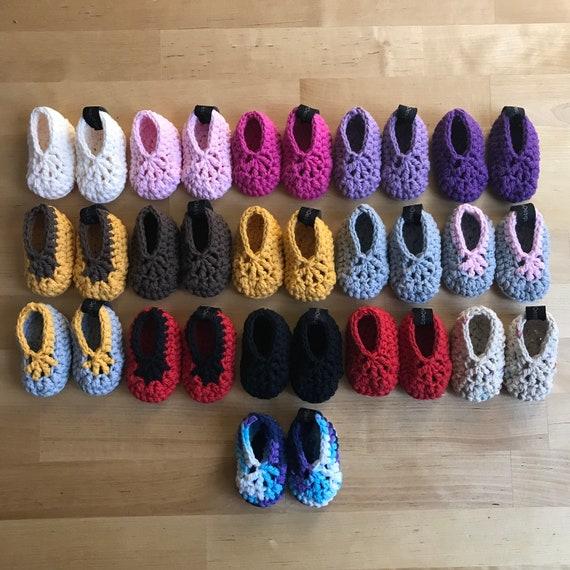 cc3304d0fa09 Chaussures bébé nouveau-né naissance fille Crochet   Etsy
