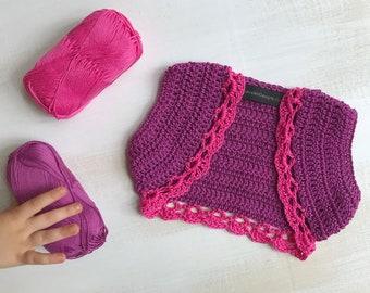Baby Girl Vest, Baby Girl Cardigan, Crochet Baby Vest, Baby Girl Tops, Baby Vest, Baby Shrug, Baby Bolero, Girl Wrap, Boho Baby Clothes