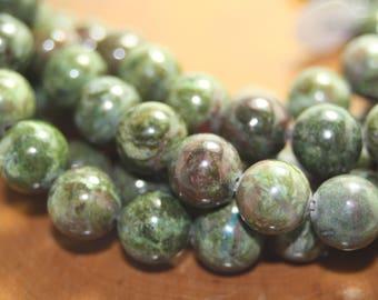Rainforest Jasper Beads, Gemstone Beads, 10mm, 8 inch