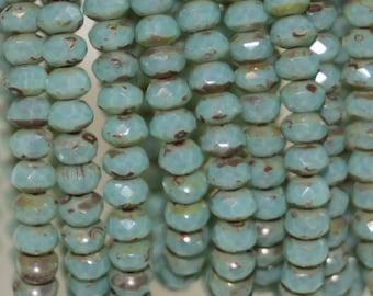Czech Glass Beads 5x3 mm Rondelle 30 Beads
