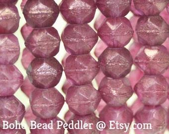 Czech Glass Beads, English Cut Bead, 10mm, 15 Pcs