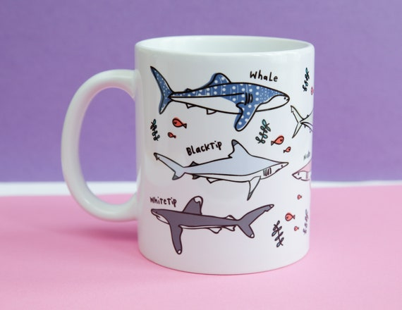 Types of sharks mug