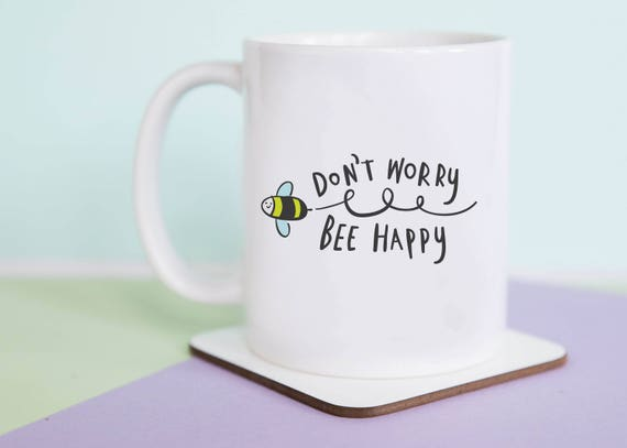 Don't Worry Bee Happy Coffee Mug with gift box