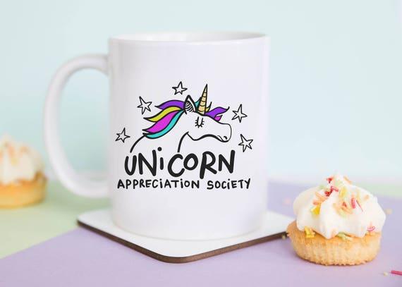 Unicorn Appreciation Society Coffee Mug with gift box