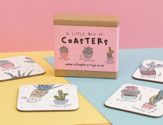 Types of Plants 4 Coaster gift set