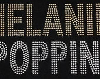 Melanin Poppin Rhinestone T-Shirt