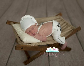 The Newborn baby Hammock, Chair Photography Prop,Newborn Baby Hammock Photography Prop,Wood Rustic Miniature Hammock,Deck Chair,bed props