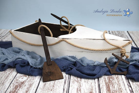 Newborn And Baby Sitter Boat Prop Newborn Prop Photography Prop Boat Prop Photo Decor Wooden Boat Handmade And Hand Painted