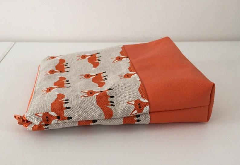 Orange fox ladies storage bag teenage pouch makeup bag Teen-Beutel Orange Fuchs Beutel orange fox pouch Make-up Tasche, Orange Fuchs