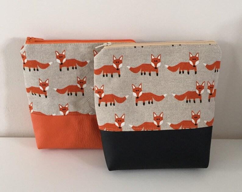 teenage pouch Orange fox ladies storage bag orange fox pouch Make-up Tasche, Orange Fuchs Beutel Orange Fuchs Teen-Beutel makeup bag